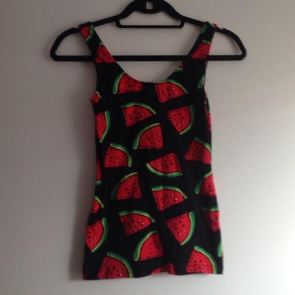 9787d55da9977 H M Tops - H M Watermelon Tank