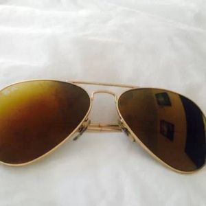 RayBan Mirror Aviator Sunglasses Authentic
