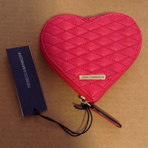 Rebecca Minkoff Handbags - Rebecca Minkoff Pink Heart Small Pouch Purse Leath