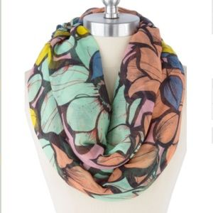 Beautiful Flower Garden Print Infinity Scarf