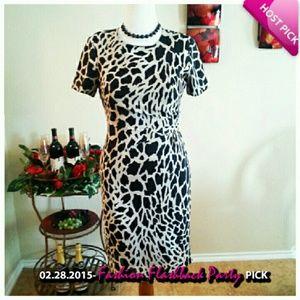 HP-VTG Animal Print Dress
