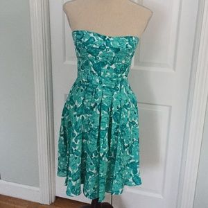Silk Turquoise garden party dress