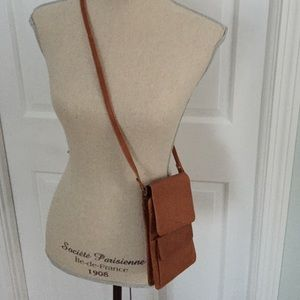 Vintage Leather cross body purse