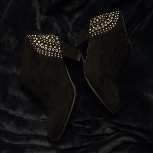 Forever 21 Black Studded Booties