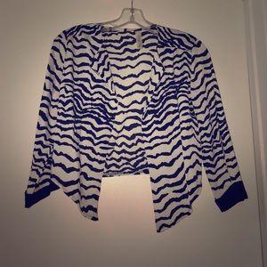 Jackets & Blazers - Quarter-Sleeve Zebra Print Jacket