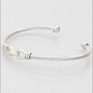 Hannah Beury Jewelry - Metal Knot Cable Cuff Bracelet