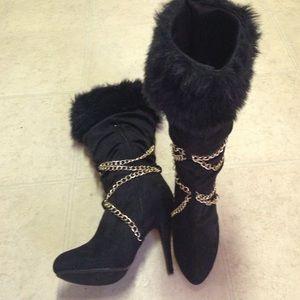 """BUMPER Knee Hi 5""""Boots SZ 10M"""