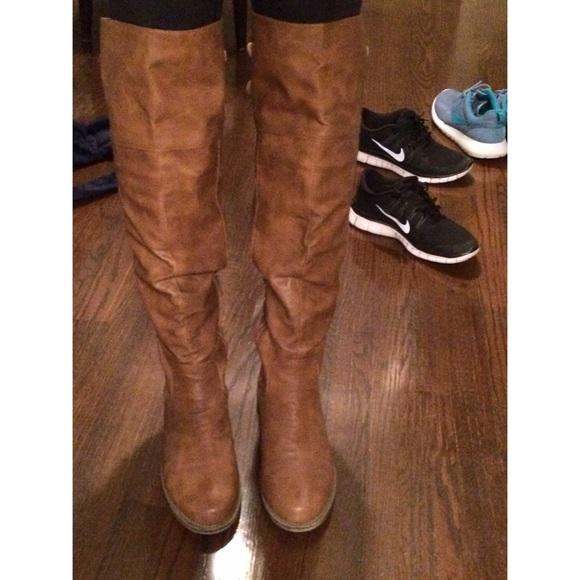 ebc7481e9b8 Delia s Boots - Cognac over the knee boots