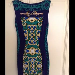 CACHE Status Print Dress-perfect condition-blu/general