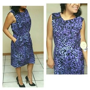 vintage Purple Dress  Animal Print