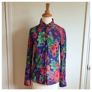 Floral Button-Down Long Sleeved Shirt