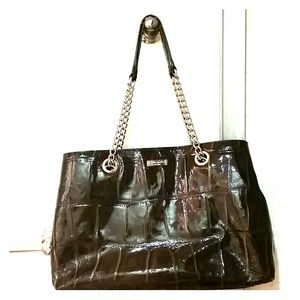 Kate Spade Brown Alligator Patent Leather Purse