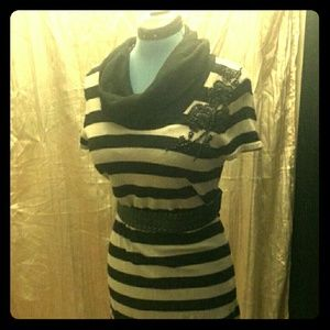 Custom striped knit dress