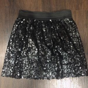 Eight Sixty Black Sequin Skirt