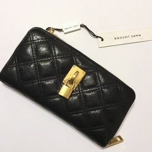 Marc Jacobs Clutches & Wallets - Marc Jacobs Black Quilted Leather Wallet