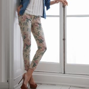Current/Elliott Denim - Current Elliot Floral Skinny Jeans