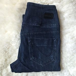 Dollhouse Denim - Dollhouse High Waisted Skinny Jeans Dark Denim
