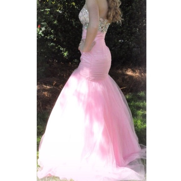 35 off dresses amp skirts pink amp silver jewel prom or