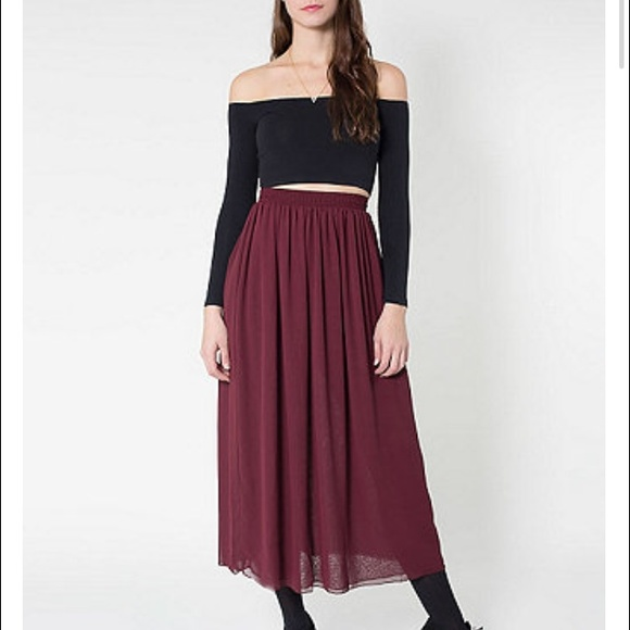 American Apparel Dresses & Skirts - double chiffon american apparel skirt