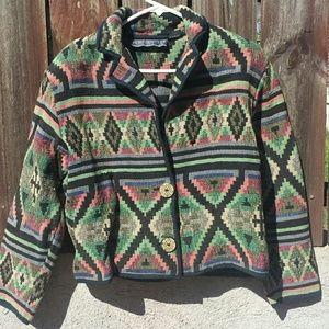 Vintage Southwestern Tapestry Jacket