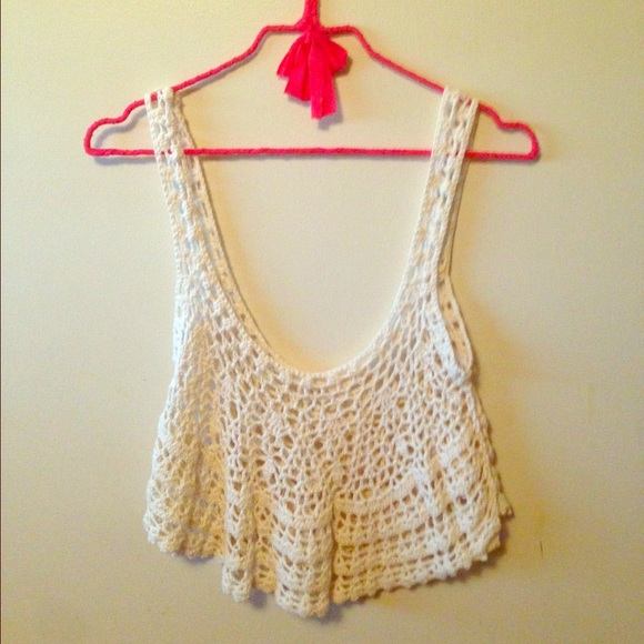 Crochet Crop Top : LF Tops - Millau Crochet Crop Top