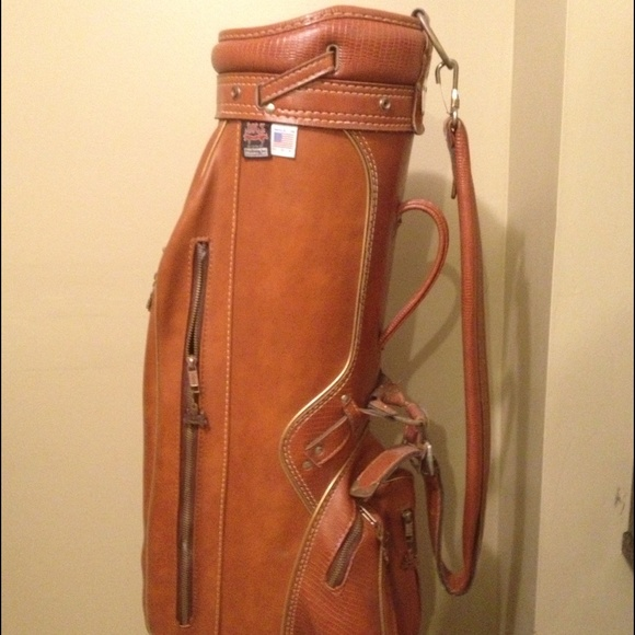 75 Off Hot Z Other Vintage Golf Bag Hot Z All Leather