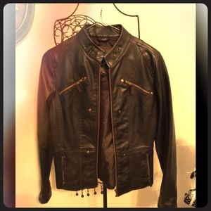 Jackets & Blazers - 🌟Reduced🌟Brown faux leather jacket