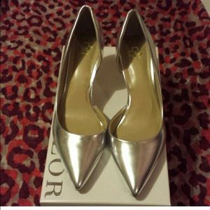 Ann Taylor Shoes - Silver d'orsay shoes