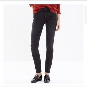 Madewell High Riser Skinny Stitch Patch Jeans