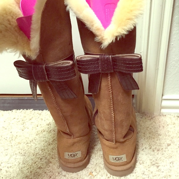 45 Off Ugg Boots 🎀 Tall Ugg Boots With Bow On Back
