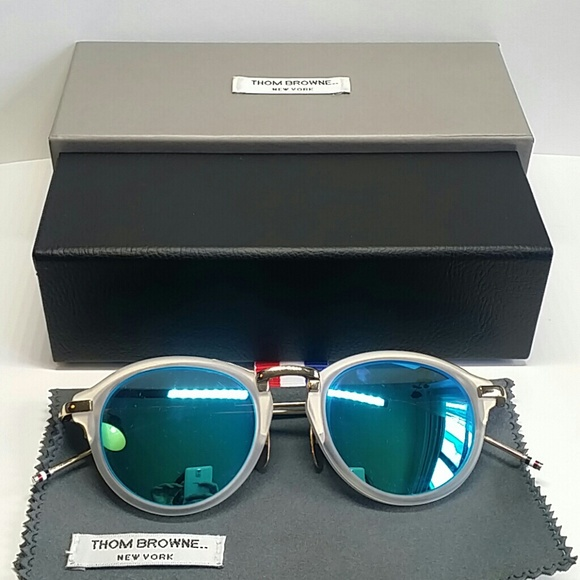 ff7bcabf41 Thom Browne Blue Mirrored Sunglasses