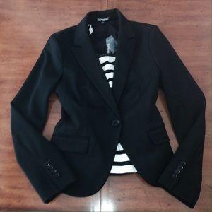 🎉HP🎉NWT Express black, one-button blazer