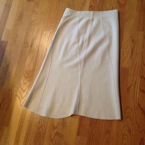 Hartford Dresses & Skirts - Hartford Winter White Wool Asymetric Skirt size 1