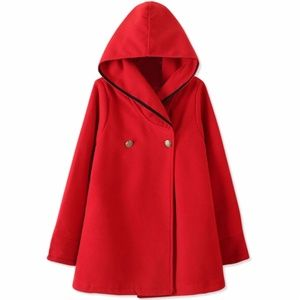 Jackets & Blazers - BRAND NEW Red Hooded Cape