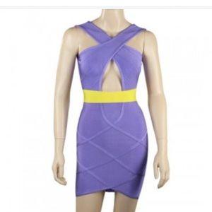 Dresses & Skirts - Purple bandage dress