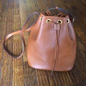 Old Navy brown faux leather bag