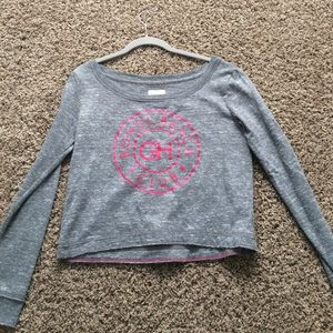 Gilly hicks grey cropped sweater size S