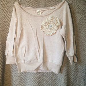 Tan off the shoulder half sleeve top