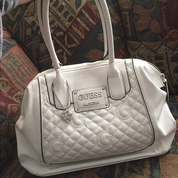 344380c274 Guess Handbags - White leather Guess brand purse