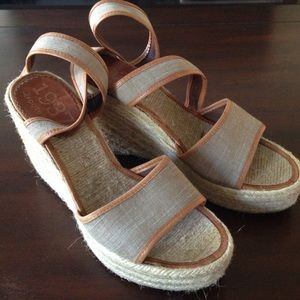 NWOT Madewell 1939 wedge sandals, fits sz 8.5 or 9