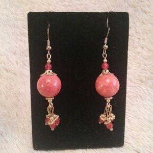 Earth Stone Pierced Earrings