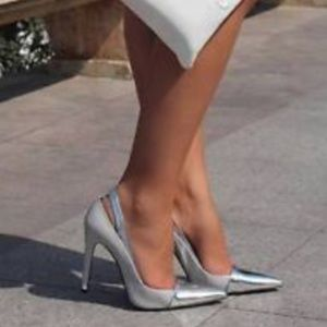 ZARA Heels with Metal Cap Toe