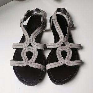Belle by Sigerson Morrison Shoes - Belle Sigerson Morrison Leather Gladiator Flats