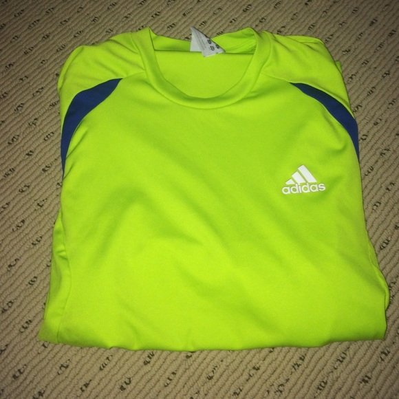 Neon Adidas Shirt Adidas Tops Neon Green Boys
