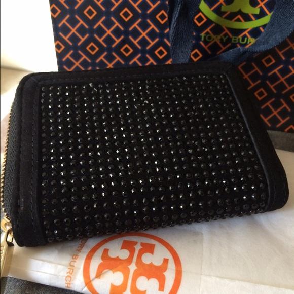 tory burch bags tory burch zipper coin authentic black crystal authentic black crystal