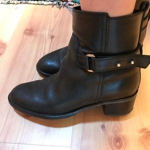 J.Crew black Coachella leather Parker ankle boots