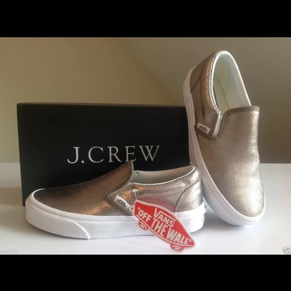 6c02576e2e99 VANS Metallic Leather Classic Slip-On Sneaker 7.5
