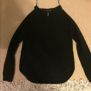 Black v neck sweater