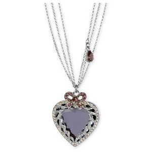 Betsey johnson heart statement necklace