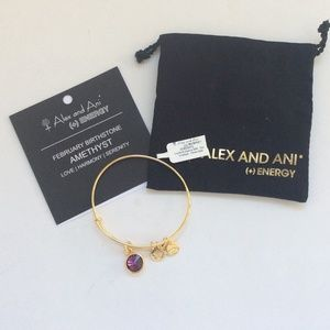 Alex and ani February amethyst bracelet